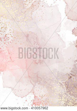 Beige Quartz Geode Vector Design Frame.stylish Taupe Brown Glitter Texture Card. Gold Border. Sparkl