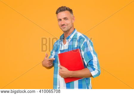 College University Education. Man Adult Student. Final Exam And Graduation. Dedicated To Studying. S