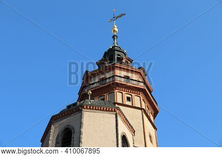 Saint Nicholas Church In Leipzig, Germany (nikolaikirche). Evangelical-lutheran Church Of Saxony.