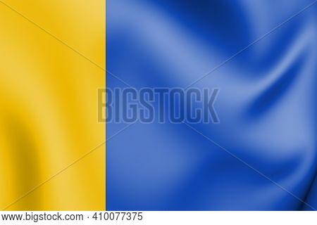 3d Flag Of Uden (north Brabant), Netherlands. 3d Illustration.