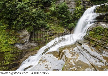 Lucifer Falls In Is Efield Gorge In Robert H Treman State Park In Tompkins County, New York