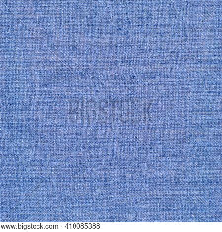 Natural Dark Pastel Pale Blue Rustic Flax Fiber Linen Fabric Swatch Texture Horizontal Pattern, Brig