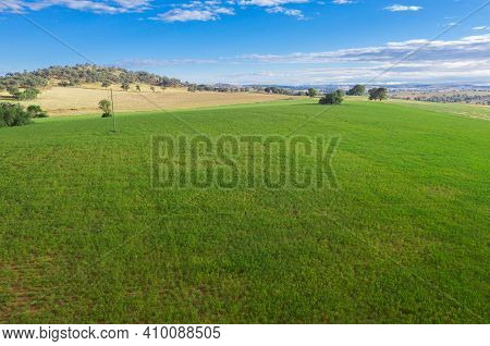Typical Farmland Between Cowra And Canowindra In The Central West Of New South Wales Australia