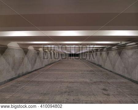 Underground. Pedestrian Underpass Without People. Underground Pass.