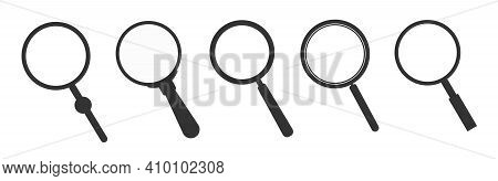 Set Of Magnifying Glass Icons. Magnifier Sign Set. Search Icon Concept For Finding People To Work.