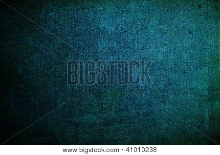 Abstract Dark Blue Background Or Paper With Grunge Texture