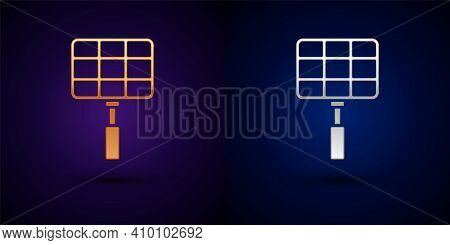 Isometric Barbecue Steel Grid Icon Isolated On Orange And Pink Background. Top View Of Bbq Grill. Wi