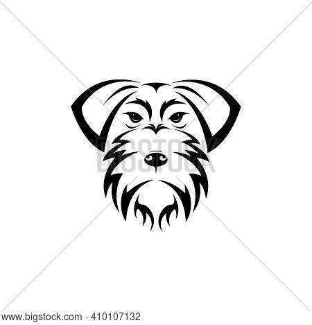Vector Of Schnauzer Dog Head Isolated On White Background. Easy Editable Layered Vector Illustration