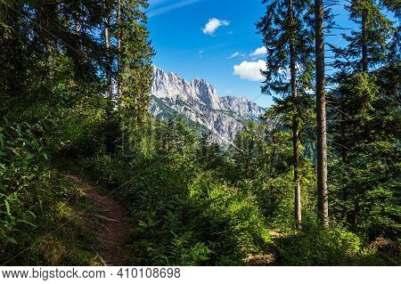 Landscape In The Valley Klausbachtal In The Berchtesgaden Alps, Germany.