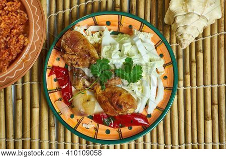 Famous Adobo Bbq Chicken, Goya Foods  Spicey Dish