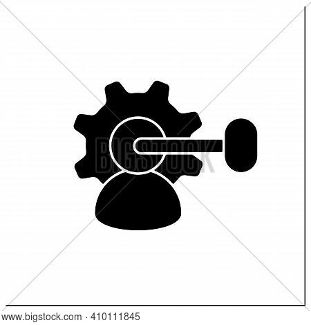 Intellectual Property Management Glyph Icon. Maximizing Profitability. Protection Of Intangible Crea