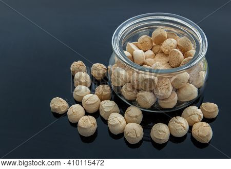 A Type Of Traditional Thai Dessert Consisting Of Many Small, Made From Flour, Egg, Coconut Milk And