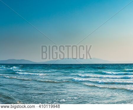Riplpe Sea Ocean Water Surface With Small Waves