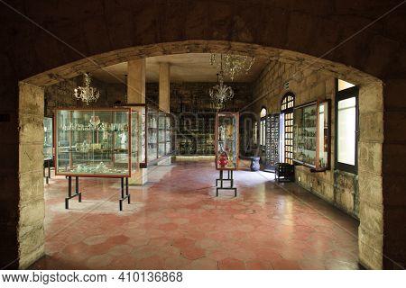 Algaida Es Pla, Majorca / Spain - August 25, 2016: The Glass Museum At Manufacturing Factory Guardio