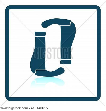 Bike Grips Icon. Square Shadow Reflection Design. Vector Illustration.