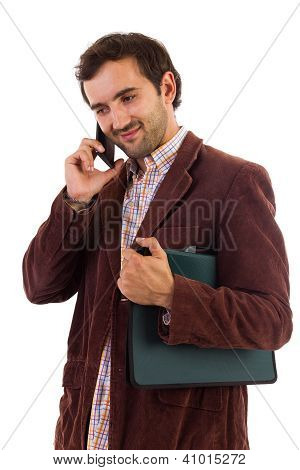 Businessman Speaking On Cellphone