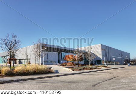 Elmira, Ontario/canada - October 20, 2020:  Woolwich Memorial Centre In Elmira, Ontario, Canada. The