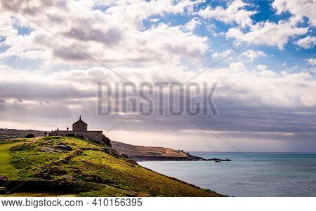 St Nicholas Chapel On The Headland Of St Ives, In Cornwall, England.