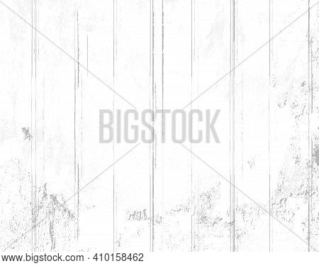 Minimalist Vector Background In Shades Of Grey With White Wooden Planks And Shabby Paint