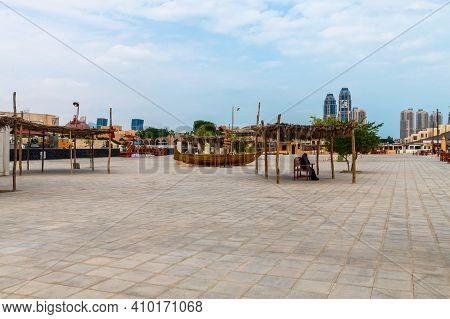 Doha, Qatar - Nov 20. 2019. Embankment In Katara Beach