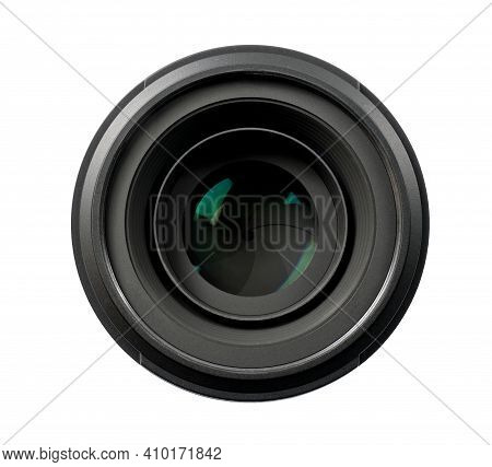 Top View Of Isolated Professional Optical Lens For Modern Dslr Cameras. High Resolution Image. Png F