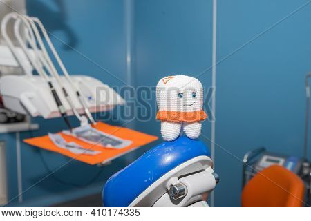 Tooth Model.soft Toy Of A Tooth.concept For Dental Healthcare.healthy Teeth And Trust In The Dentist