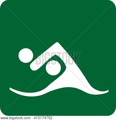 Sports Illustration Of Water Polo. Sportive Pictogram. Image Of Sport Water Polo. Icon Of Sport. Spo