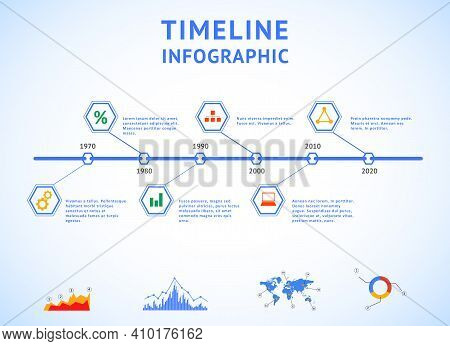 Timeline Infographic With Diagrams And Text Timeline Infographic With Diagrams And Text
