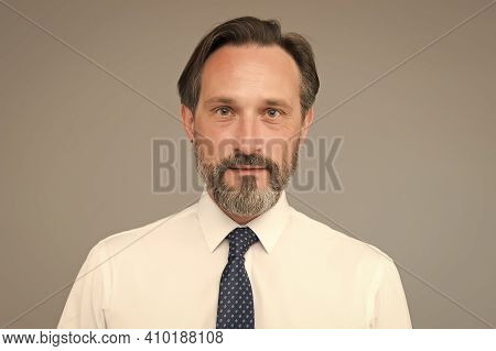 Grey Beard Relevant For Him. Age And Experience. Man Handsome Confident Fashion Model Wear Fashionab