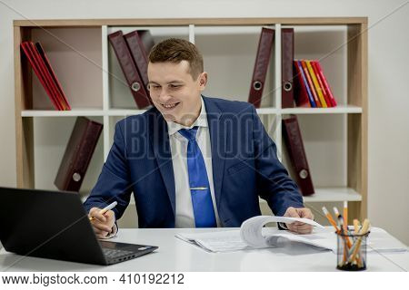 Workplace Attorney Success Collar Executive Notary Broker Lawyer People Corporate Concept. Concentra