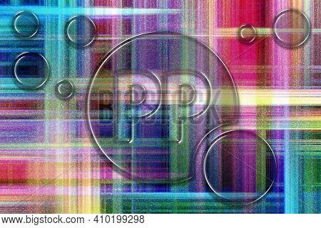 Vitamin Pp Health Symbol, Vitamin Concept, Niacin, Colorful Checkered Background