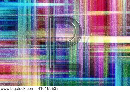 Symbol Of Pluto, Pluto Sign, Astrology Pluto Planet, Colorful Checkered Background