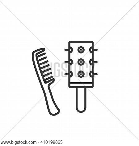 Comb Outline Icon Vector For Beauty Salon Ans Barbershop