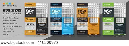 Construction Flyer Template Design, Corporate Flyer