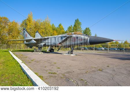 St. Petersburg, Russia - October 02, 2020: Mig-31 - Soviet And Russian Two-seater Supersonic High-al