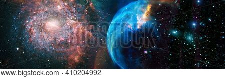 Mystical Beautiful Space. Unforgettable Diverse Space Background Elements Of This Image Furnished By