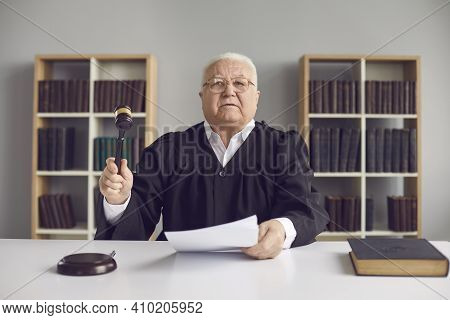 Senior Judge Pronounces Sentence, Rules Case Closed And Hits Sound Block With Gavel