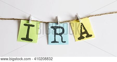 Ira Concept - Colorful Sticky Notes With Word Seo On White Background