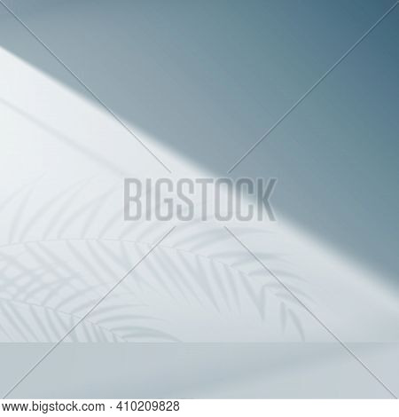 Shadow Background Overlays. Scenes Of Natural Lighting. Tropical Leaves Natural Shadow Overlay On Wh