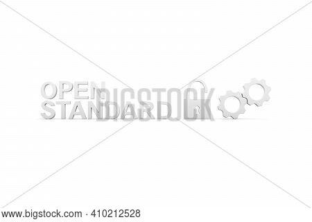 Open Standard Concept White Background 3d Render Illustration