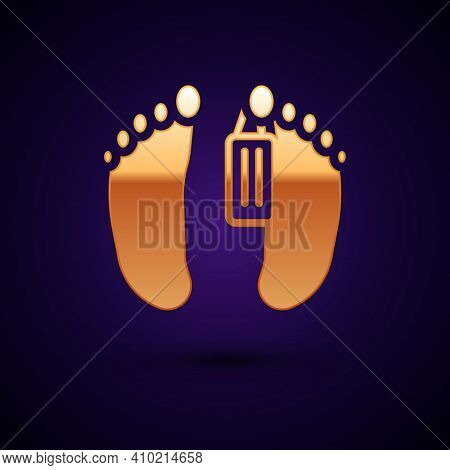 Gold Dead Body With An Identity Tag Attached In The Feet In A Morgue Of A Hospital Icon Isolated On