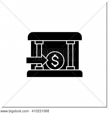 Bank Loans Glyph Icon. Access To Bank Loans. Instant Card Issuance Concept. Quick Money Access. Mobi