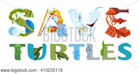 World Turtle Day In May. International Event. Save Oceans And Seas. Ecological Problem. Environmenta