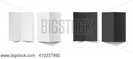 Blank Half Fold Brochure Template For Presentation