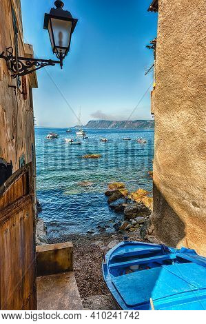 Picturesque Streets And Alleys In The Seaside Village Of Chianalea, Fraction Of Scilla, Calabria, It