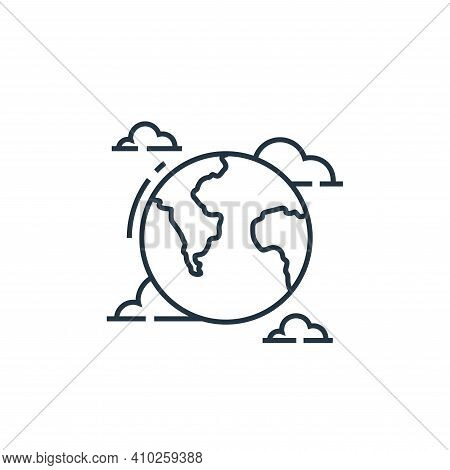 world icon isolated on white background from environment and eco collection. world icon thin line ou