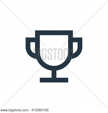 winner icon isolated on white background from user interface collection. winner icon thin line outli
