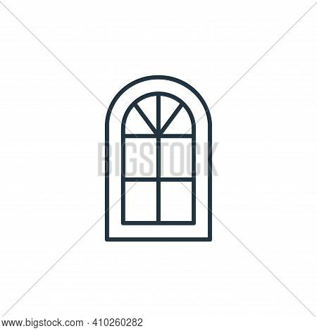 window icon isolated on white background from interiors collection. window icon thin line outline li