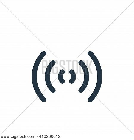 wifi icon isolated on white background from multimedia collection. wifi icon thin line outline linea