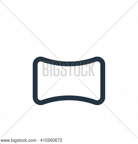 wide icon isolated on white background from interface collection. wide icon thin line outline linear